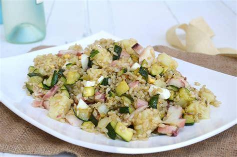 come cucinare il polpo in insalata 187 insalata di riso integrale con polpo ricetta insalata
