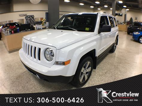jeep patriot 2017 sunroof new 2017 jeep patriot high altitude edition 4x4 leather
