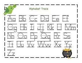 Kindergarten alphabet worksheets trace letter to print