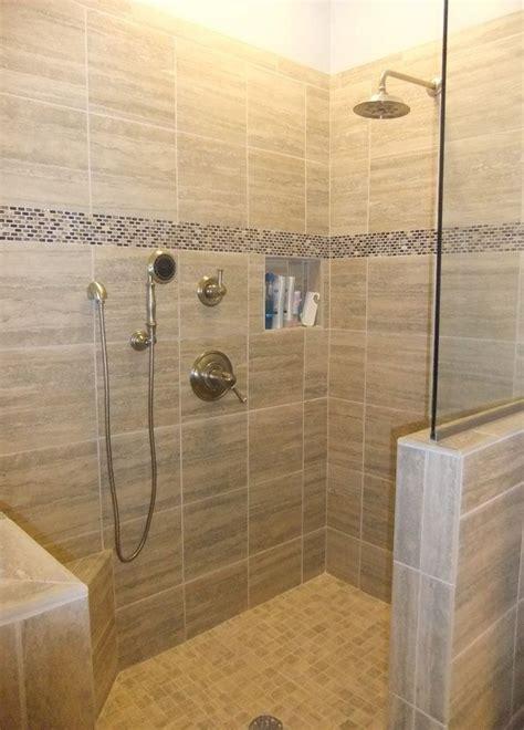 walk  shower designs doorless   hand held