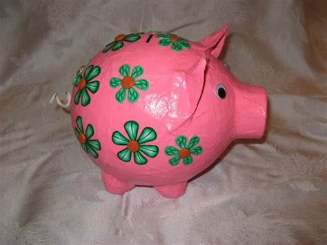 How To Make A Paper Mache Piggy Bank - paper mache piggy bank inspired 2 create my creations