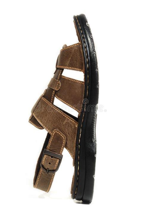 Sandal Gdns Hold Brown sandal stock image image of soft hold luggage 12981835