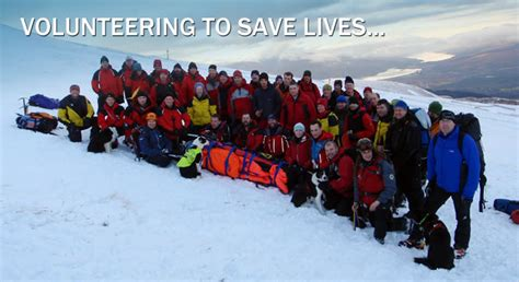 what is a rescue scottish mountain rescue volunteering to save lives