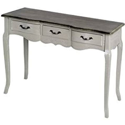 shabby chic sofa table shabby chic antiqued grey 3 drawer console table