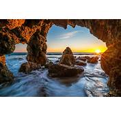 Ocean Sunrises And Sunsets USA Malibu Crag Nature