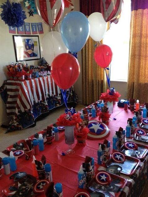 capitan america decoracion ambientacion cotilln fiestas ideas de decoraci 243 n para fiestas infantiles capit 225 n