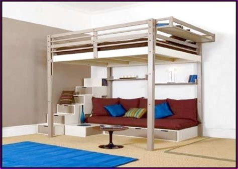 full size loft bed with futon diy loft bed