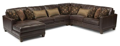port royal leather sectional latitudes port royal 4 pc sectional sofa by flexsteel