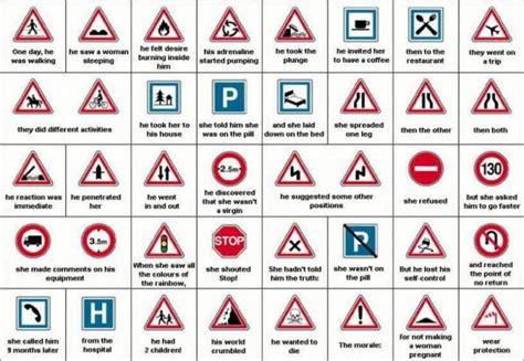 histoire sexe bureau road signs meme