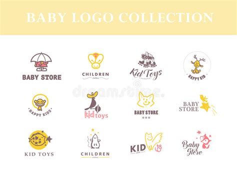 design kartu nama baby shop vector collection of baby logo stock vector image 62148404