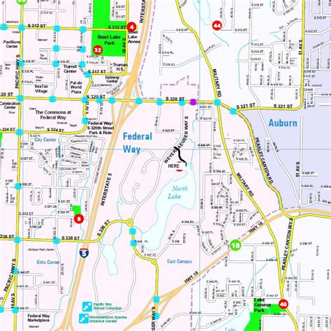 seattle map federal way federal way images
