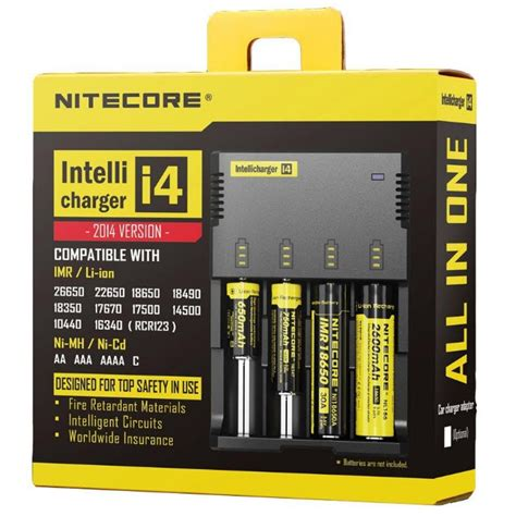 Charger Nitecore I4 New Version 2016 For 18650 Aa 14500 26650 4 Slot 18650 battery charger nitecore i4 intellicharger simple