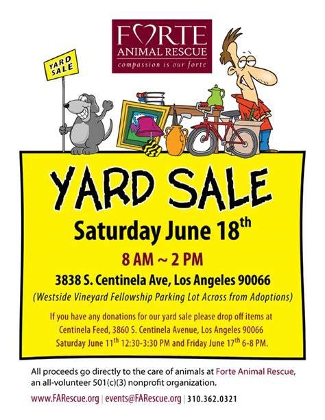 Yard Sale Flyer Images