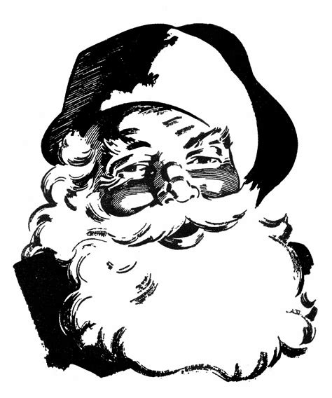 vintage santa coloring page kat s almost purrfect world retro santa and freebies