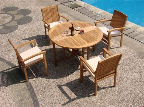 48 inch table with 5 chairs wholesaleteak 5 grade a teak dining set with 48