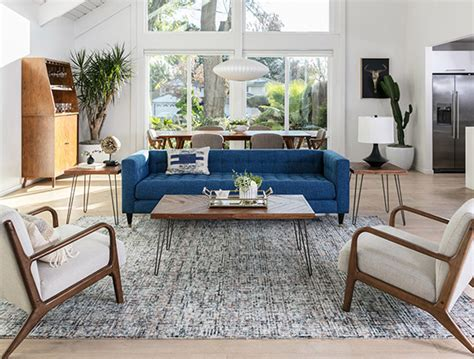 Mid Century Living Room by Mid Century Room Ideas Living Spaces