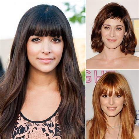 celeb hair bangs or no bangs toofab photo gallery celebrity fringe hairstyles for spring popsugar beauty uk