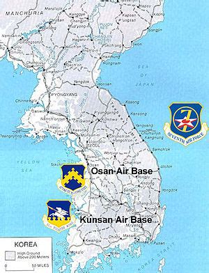 map usaf bases united states air in south korea