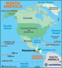 honduras map and honduras satellite image
