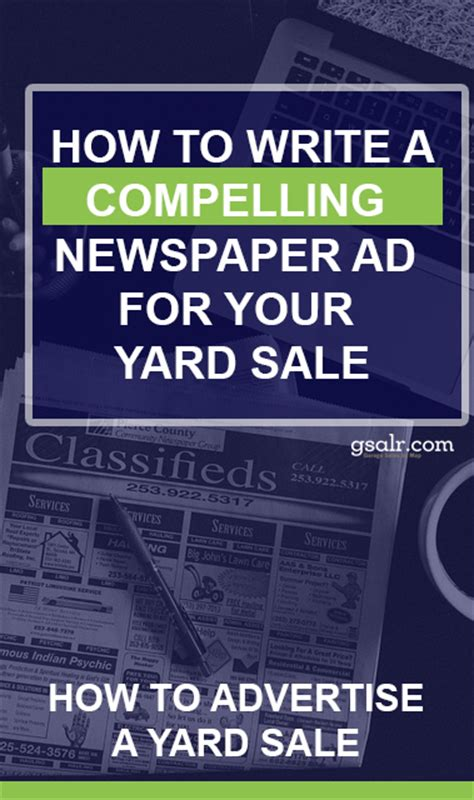 Where To Advertise Garage Sales by How To Promote A Garage Sale Part 3 Newspaper Ads