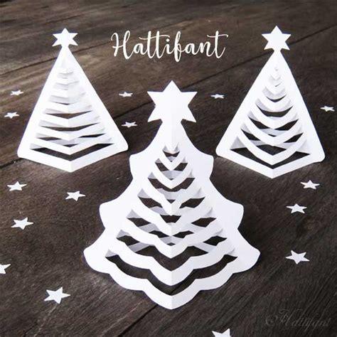 Hattifant S 3d Paper Christmas Trees Hattifant 3d Ornament Templates