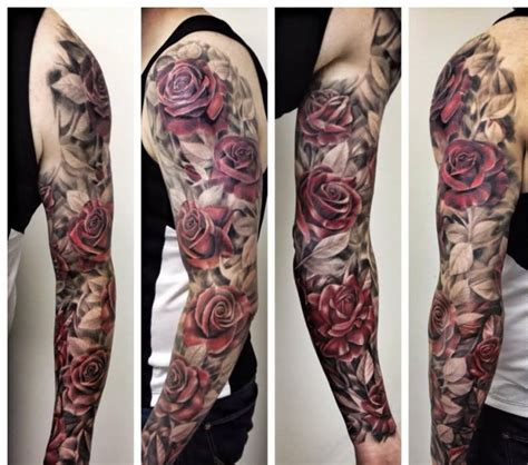 flower tattoo sleeves for men 16 floral tattoos on sleeve for