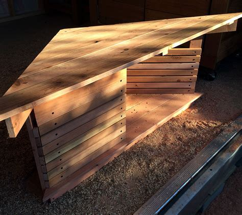 custom made dog house handmade custom triangle redwood dog house by strong wood studio custommade com