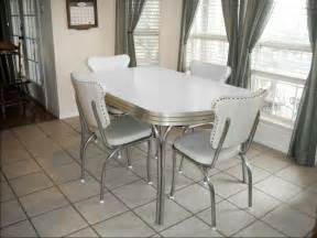 vintage retro white kitchen dining room table with chairs counter and lader unit larder cupboards