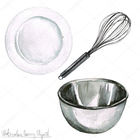 clipart cucina acquerello di cottura clipart utensili da cucina foto
