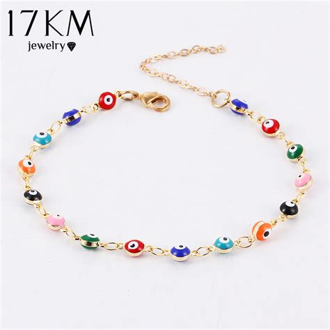 colorful bracelets 17km colorful turkish evil bracelt simple charm