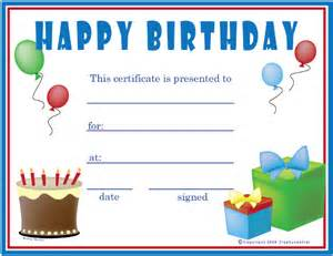 Free Printable Gift Certificates Template Birthday Certificate Template 20 Free Psd Eps In