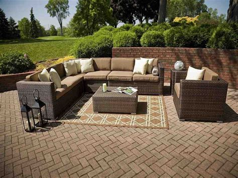 outdoor resin wicker sectional patio furniture clearance