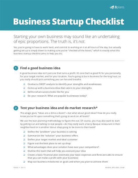business startup checklist template start up checklist
