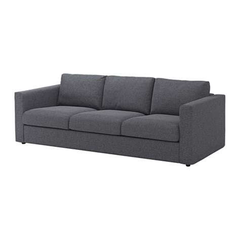3 seat sofa vimle 3 seat sofa gunnared medium grey ikea