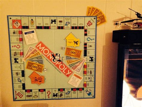 Diy Small Table by Monopoly Wall Art All