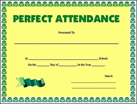 100 attendance certificate template 100 attendance certificate template sle templates