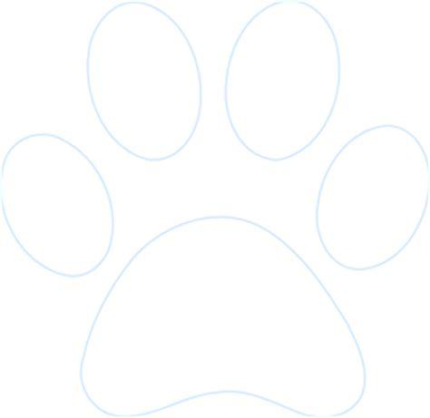 paw print outline clip art  clkercom vector clip art