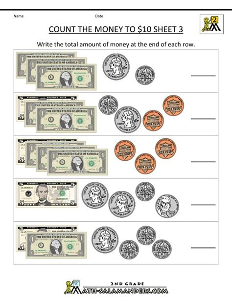best sheets for the money math worksheets budgeting money real world math