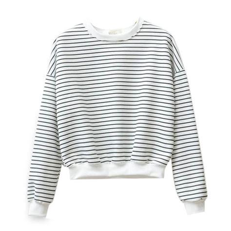 Jaket Hoodie Harajuku Black Navy striped hoodie womens trendy clothes