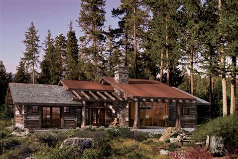 One Story Log Cabins by One Story Log Home Plans House Design