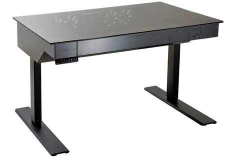 high end standing desk lian li s wild motorized standing desk doubles as a case
