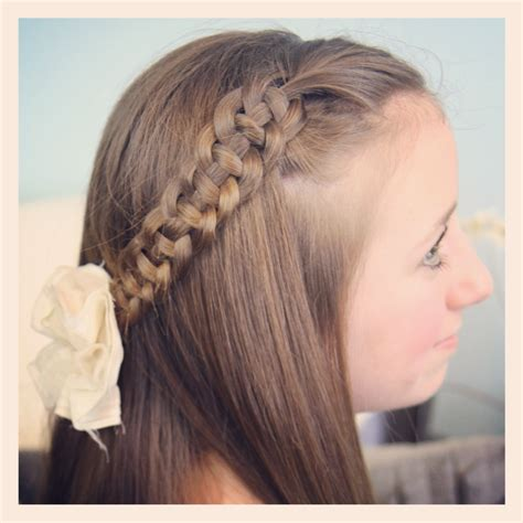 pretty hairstyles using braids 4 strand slide up braid pullback hairstyles cute girls