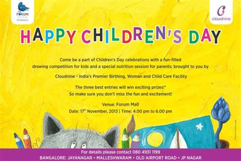 day event forum mall celebrates children s day on 17 november 2013