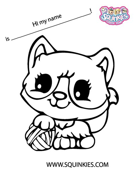 Squinkies Coloring Page Squinkie Coloring Pages