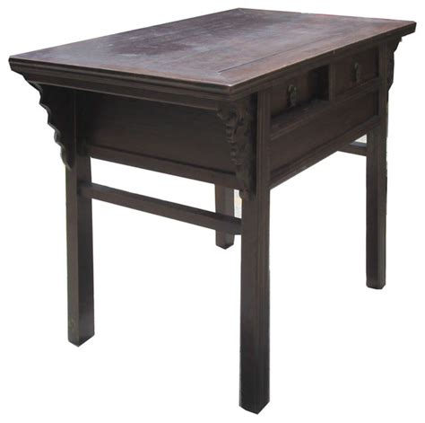 asian accent table chinese antique dragon carving altar table vanity cabinet