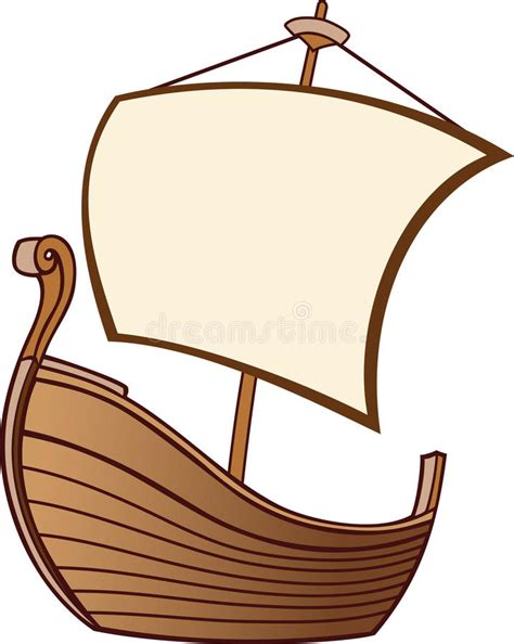 old boat cartoon old boat with a sail stock vector illustration of place