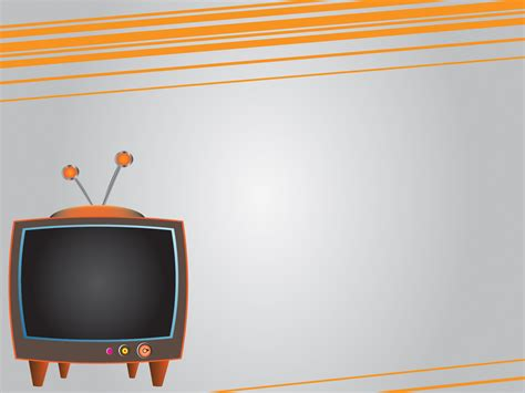 design background tv orange tv powerpoint templates orange technologies