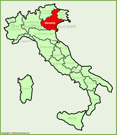 www veneto veneto location on the italy map
