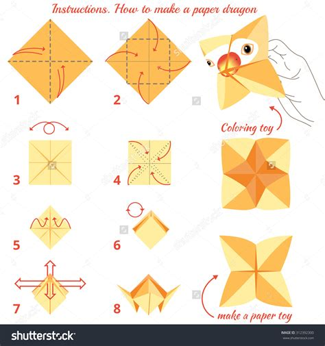 How To Make Paper Step By Step - origami step by step www pixshark