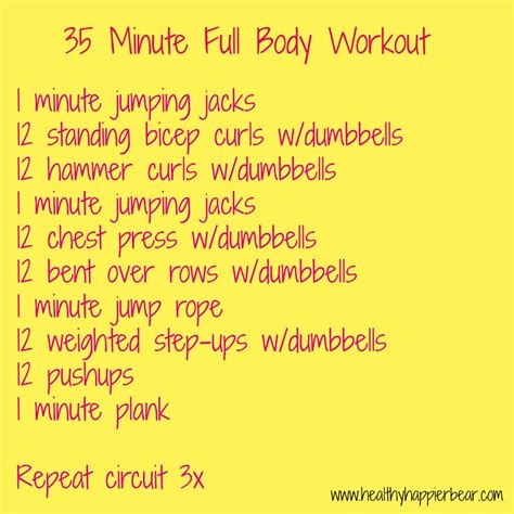 35 minute workout my healthy happier